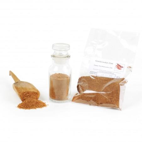 Gewürzzucker Zimt, Smoothie Zutaten Zucker Natur, Eis Topping, Rohrzucker, 40g