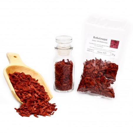 Rotes Sandelholz ätherisch | Rotholz Raspat naturbelassen | Räucherwerk | 25g
