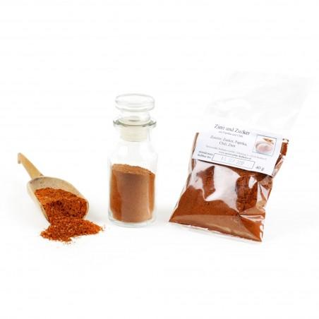 Zimt und Zucker mit Paprika und Chili Gewürzmischung, Smoothie Zutaten Zucker Natur, Zucker vegan, Backzutaten glutenfrei, 40...