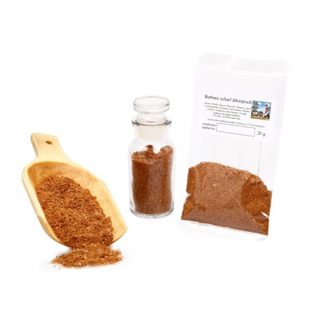 Berbere Gewürz scharf, Äthiopische Gewürzmischung zum Grillen, Grillgewürze, 20g