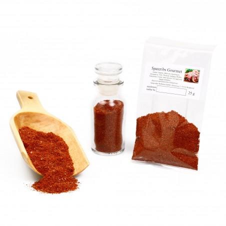Gourmet Spareribs Gewürzmischung zum Grillen, BBQ Rippchen mit Honig BBQ, 25g