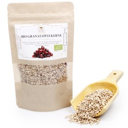BIO Granatapfelkerne getrocknet | Granatapfelsamen Superfood zum Smoothie & Curry | Backzutaten vegan & glutenfrei 100g 42605...
