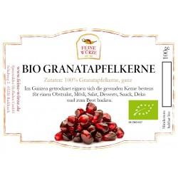 BIO Granatapfelkerne getrocknet | Granatapfelsamen Superfood zum Smoothie & Curry | Backzutaten vegan & glutenfrei 100g 42605...