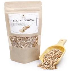Buchweizen ganz, geschält | Backzutaten | zum Kochen und Backen | Brotgewürz | vegan & glutenfrei | buckwheat | 200g 42605884...