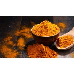 Curcuma gemahlen, Kurkuma, Kurkumawurzel Pulver, indisches Gewürz für Curry, Pulver mit Curcumin,Gelbwurz, Haldi, Turmeric, 3...