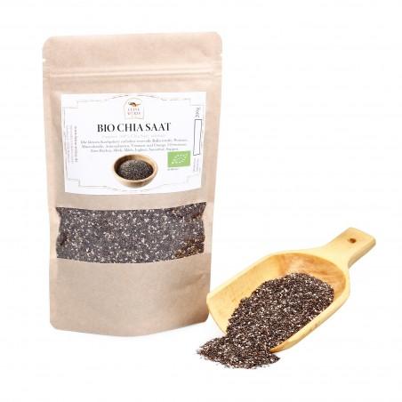 Chia Samen Bio, Superfood ganzes Korn, Smoothie Zusatz, Salvia glutenfrei, 200g