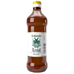 Original Radduscher Leinöl kaltgepresst, ungefiltert 100% naturrein und naturbelassen Leinsamenöl Omega 3 vegan  Öle